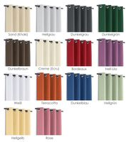 Leinen Optik Brilliant Ösenvorhang, Gardine mit Ösen 140x245 cm Farbe wählbar – Bild 2