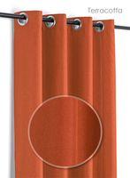 Leinen Optik Brilliant Ösenvorhang, Gardine mit Ösen 140x245 cm Farbe wählbar – Bild 10