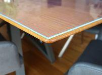 Glasklar Folie 2 mm transparente Tischdecke 100 cm, Länge wählbar, Schutzfolie Tischschutz  – Bild 1