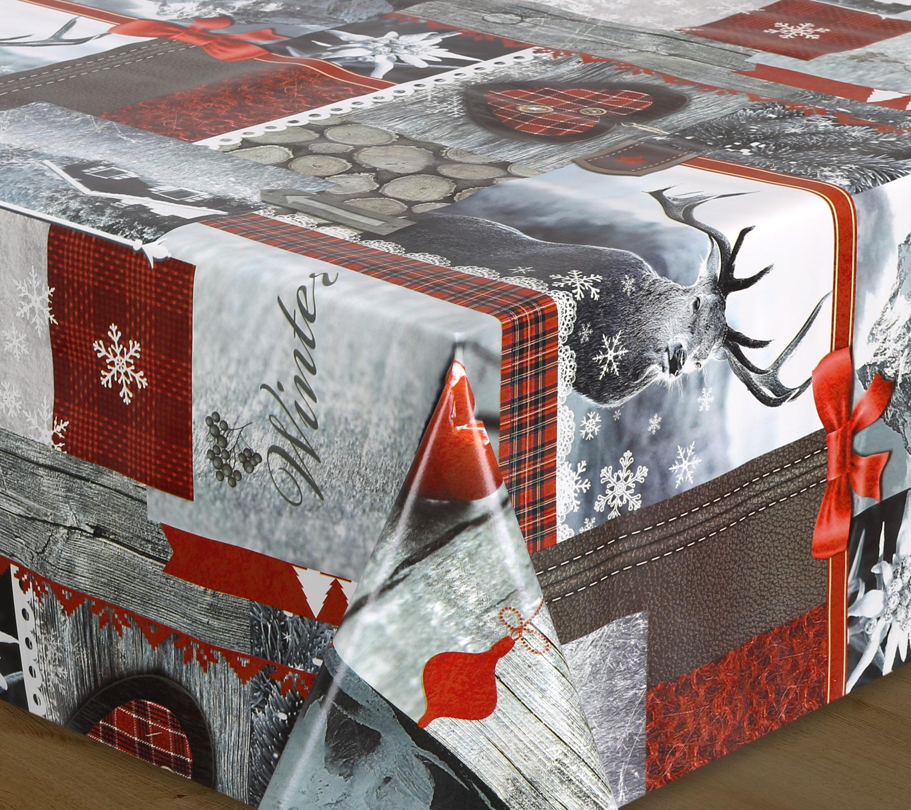 wachstuch tischdecke milano top qualit t meterware glatt weihnachten hirsch l nge w hlbar. Black Bedroom Furniture Sets. Home Design Ideas