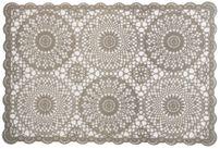 Casa Häkelspitze Optik Tischset Platzset, pflegeleicht abwischbar transparent bedruckt, Farbe wählbar – Bild 6