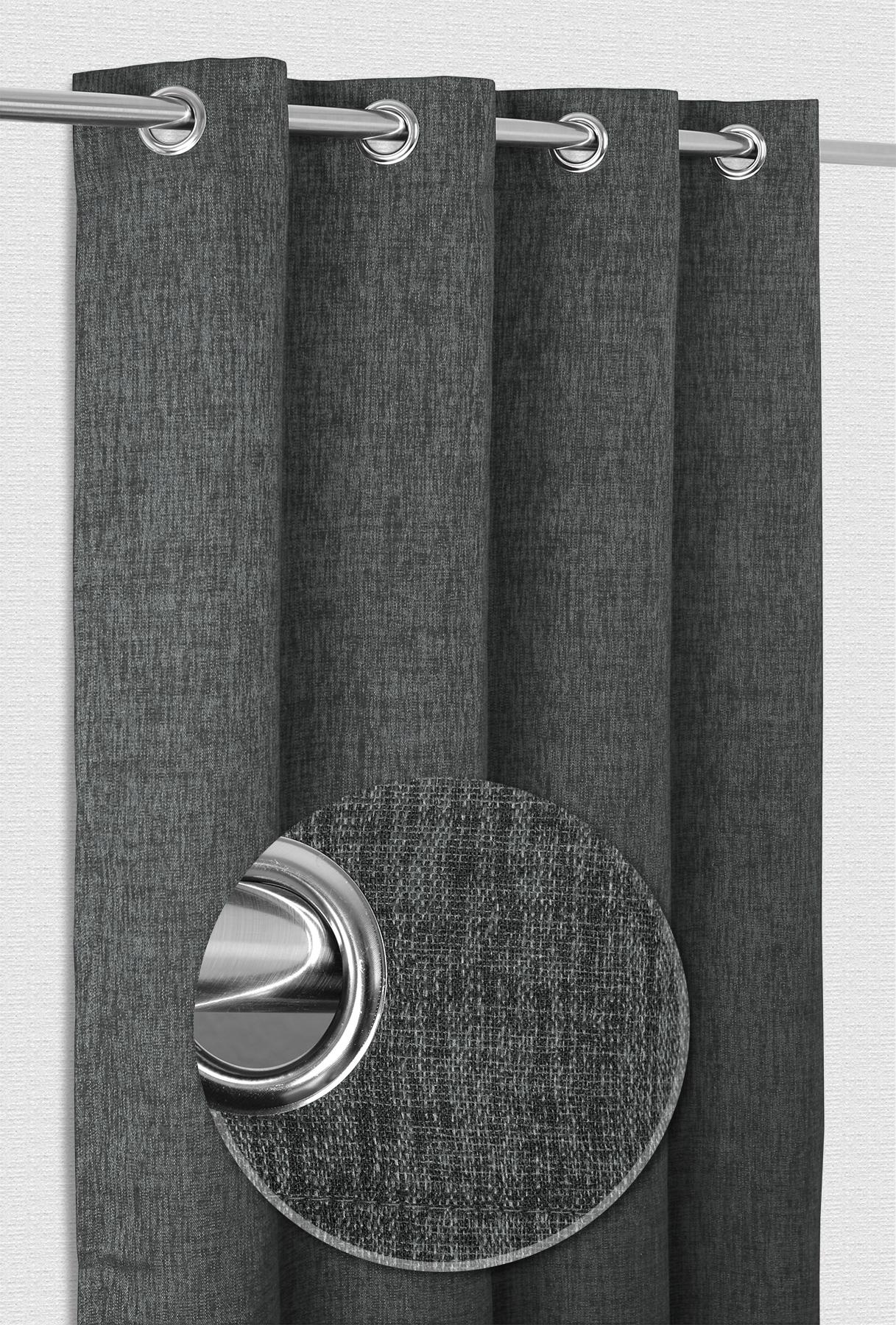 Cathrine Ösenvorhang, Gardine Mit Ösen 140x245 Cm, Ösenschal Blickdicht  Farbe Wählbar