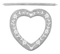Raffhalter Gardinenspange Holz Herz mit Gravur und separatem Stift, Farbe wählbar – Bild 5