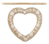 Raffhalter Gardinenspange Holz Herz mit Gravur und separatem Stift, Farbe wählbar – Bild 4