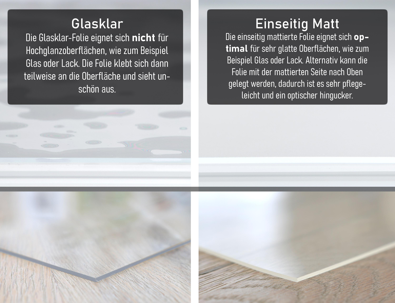 Folie 12,12 mm transparent und matt Tischdecke Schutzfolie Tischschutz auch  für Glastisch, Größe wählbar