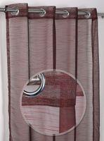 Luftiger Ösenschal Teiltransparent, Gardine mit Ösen 140x245 cm, Farbe wählbar – Bild 2