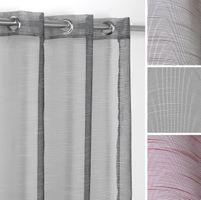 Luftiger Ösenschal Teiltransparent, Gardine mit Ösen 140x245 cm, Farbe wählbar – Bild 1