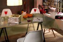 Transparente Folie mit Glitzer Effekt Gold, Glitter Metallic Tischdecke transparent, Größe wählbar – Bild 3