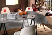 Transparente Folie mit Glitzer Effekt Silber, Glitter Metallic Tischdecke transparent, Größe wählbar – Bild 3