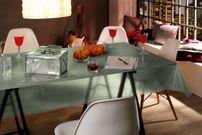 Transparente Folie mit Glitzer Effekt Grün, Glitter Metallic Tischdecke transparent, Größe wählbar – Bild 3