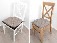 Robustes Stuhlkissen 41x42x4 cm, Sitzauflage, Polster Sitzkissen Tweed Hugo, Farbe wählbar – Bild 5