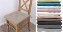 Stuhlkissen 41x40x4.5 cm, Linen Sitzauflage, Polster Sitzkissen Harry Sunday, Farbe wählbar – Bild 7