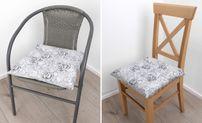 Sitzkissen 40x40x6 cm, Stuhlkissen Sitzauflage, Polster Joris Roses, Farbe wählbar – Bild 6