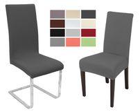 Beautex Stuhlhusse Jersey, elastische Stretch Husse Baumwolle Bi-Elastic, Farbe wählbar – Bild 1