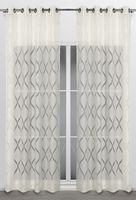 Beautex Vorhang mit Ösen 140x260 cm (Farbe Wählbar) transparente Gardine, Arlequin – Bild 3