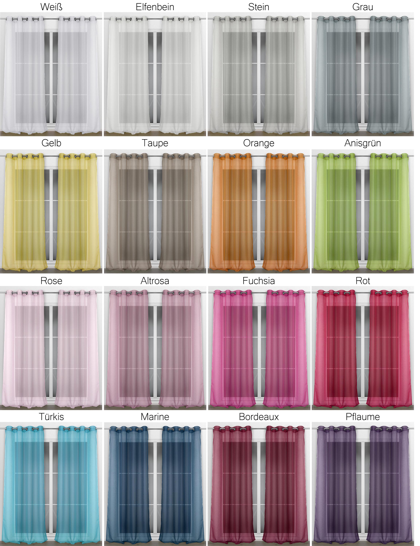 beautex vorhang mit sen 140x240 cm farbe w hlbar transparente gardine dolly gardinen. Black Bedroom Furniture Sets. Home Design Ideas