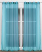 Beautex Vorhang mit Ösen 140x240 cm (Farbe Wählbar) transparente Gardine, Dolly – Bild 6
