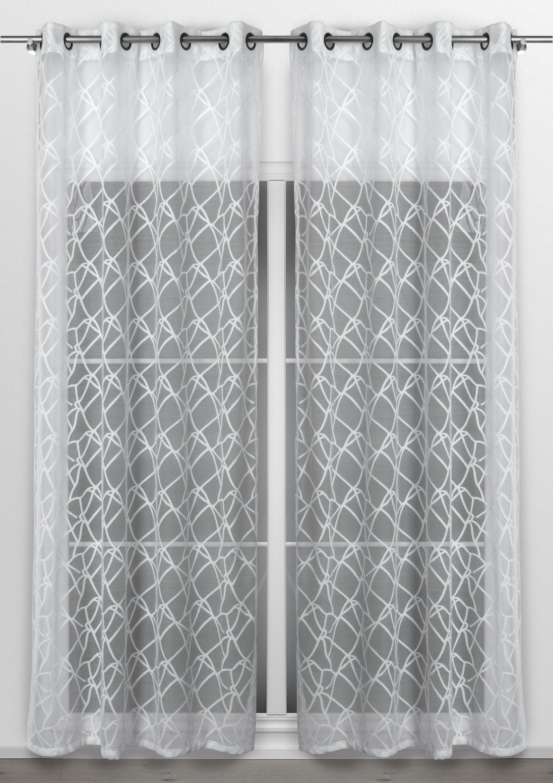 beautex vorhang mit sen 140x260 cm transparente gardine. Black Bedroom Furniture Sets. Home Design Ideas