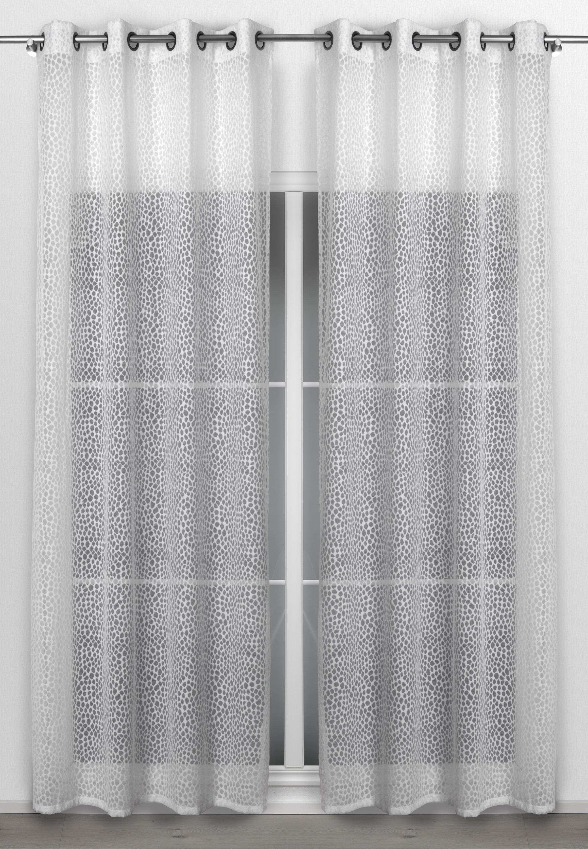 beautex vorhang mit sen 140x260 cm transparente gardine sterne motiv in wei insolence. Black Bedroom Furniture Sets. Home Design Ideas