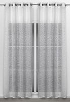 Beautex Vorhang mit Ösen 140x260 cm transparente Gardine Sterne Motiv in Weiß, Insolence – Bild 2
