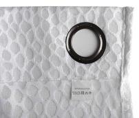 Beautex Vorhang mit Ösen 140x260 cm transparente Gardine Sterne Motiv in Weiß, Insolence – Bild 5