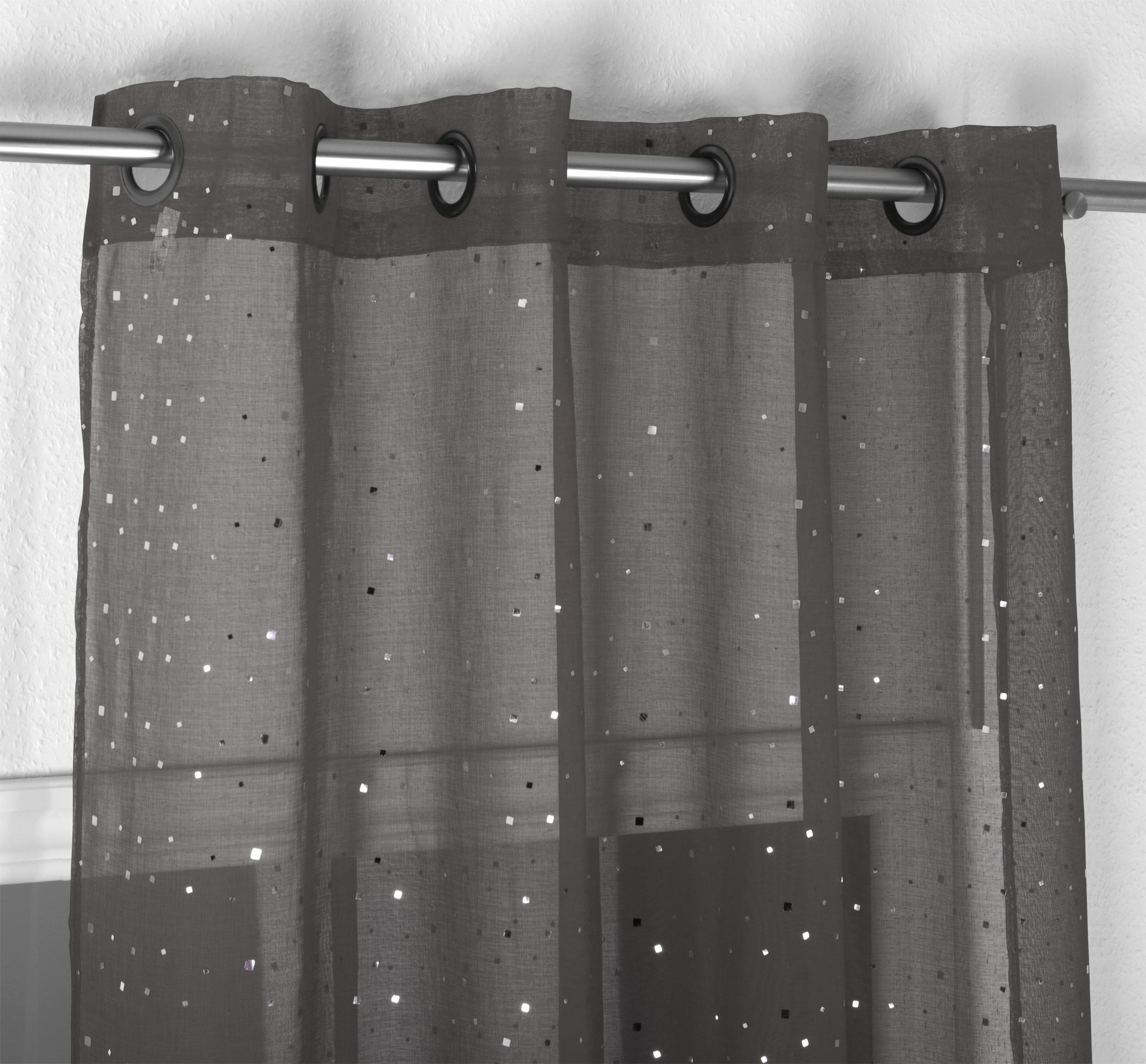 beautex vorhang mit sen 140x260 cm farbe w hlbar transparente glitzer gardine constellation. Black Bedroom Furniture Sets. Home Design Ideas