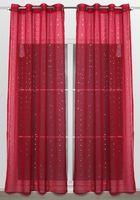 Beautex Vorhang mit Ösen 140x260 cm (Farbe Wählbar) transparente Glitzer Gardine, Constellation – Bild 7