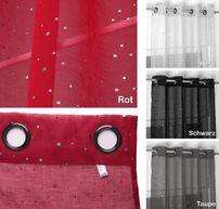 Beautex Vorhang mit Ösen 140x260 cm (Farbe Wählbar) transparente Glitzer Gardine, Constellation – Bild 2