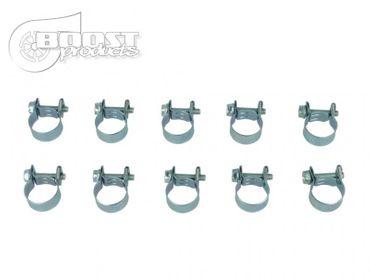 10er Pack BOOST products HD Mini Schlauchschellen, 7-9mm
