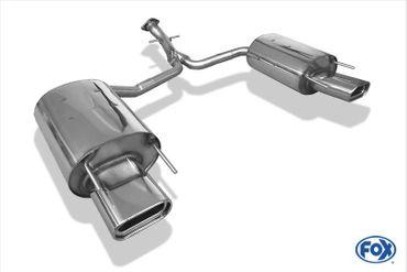 Lexus IS 220 Diesel Endschalldämpfer rechts/links - 160x80 Typ 53 rechts/links - passend an original Stoßstange – Bild 1