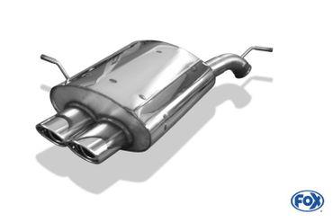 Peugeot 407 - 2,2l 16V Endschalldämpfer - 2x106x71 Typ 33 – Bild 1