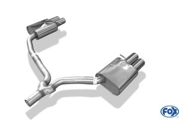 Audi A4 B8 Limousine/ Avant + S-Line Endschalldämpfer rechts/links zweiflutig inkl. Y-Adapterrohr Ø55mm innen - 2x80 Typ 17 rechts/links – Bild 5
