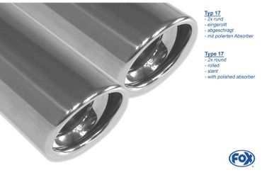 Chrysler 300C 3,5l Endschalldämpfer rechts/links Doppelrohr - 2x100 Typ 17 rechts/links – Bild 3