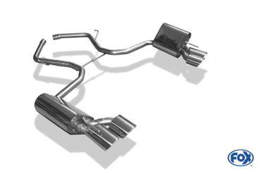 Mercedes SL Typ 230 Endschalldämpfer rechts/links - 2x115x85 Typ 32 rechts/links - Halbanlage ab Kat – Bild 5