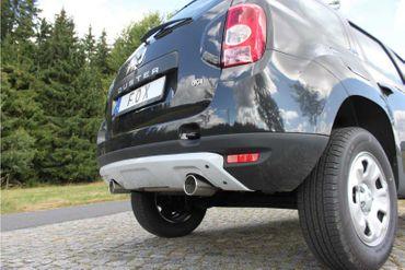 Dacia Duster 4x2 - Frontantrieb Endschalldämpfer Ausgang - 1x90 Typ 12 rechts/links – Bild 1
