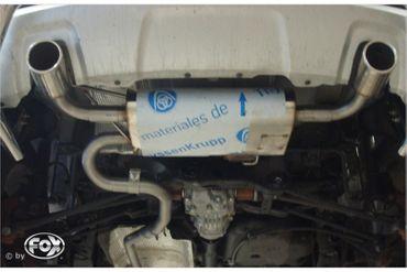 Dacia Duster 4x4 Facelift Endschalldämpfer quer Ausgang rechts/links - 1x90 Typ 16 rechts/links – Bild 1