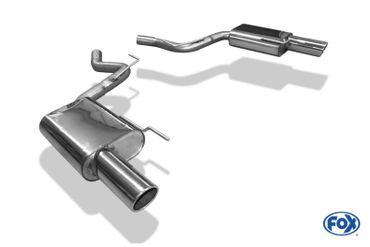 Ford Mustang Coupe & Cabrio - 8-Zylinder Endschalldämpfer rechts/links - 1x100 Typ 16 rechts/links – Bild 1