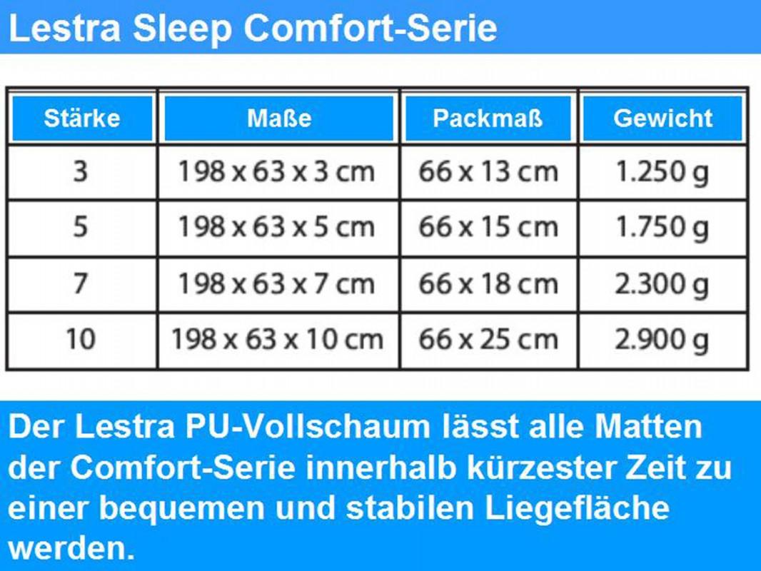 Lestra selbstaufblasende Isomatte Sleep Light 700 braun 183 x 51 x 3 cm