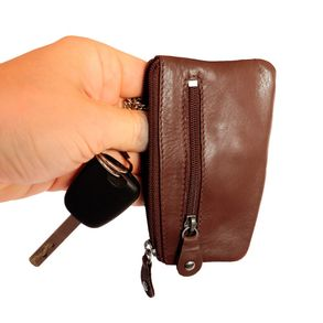 Branco - Key Wallet, Key Purse, Leather Key Case, Model-029 Brown
