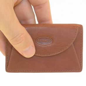 Branco – Small wallet / coin purse size XS, made out of leather, brown, model 105