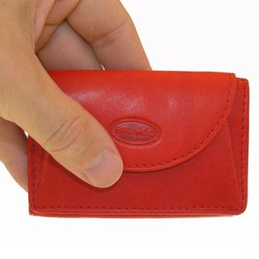 Branco – Small wallet / coin purse size XS, made out of leather, red, model 105