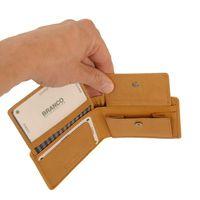 Branco – petit porte-monnaie / mini portefeuille taille XS en cuir, beige naturel, modèle 12022