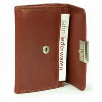 Branco – Kleine Geldbörse / Portemonnaie Größe S für Damen aus Leder, Braun, Modell 12032