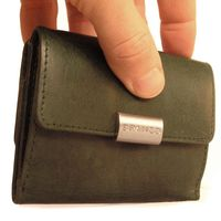 Branco – Small wallet / purse size S for women made out of leather, hunter's green, model 12032