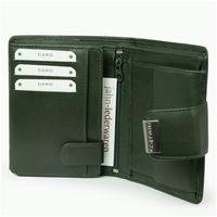 Branco – Große Geldbörse / Portemonnaie Größe L für Damen aus Leder, Jäger-Grün, Modell 12050