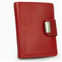 Branco – Large wallet / purse size L for women made out of leather, red, model 12050