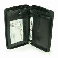 Branco – Large wallet / billfold size L made out of leather, black, model 12052z