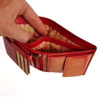 Branco - Leather, Credit Card Holder, Ladies Wallet, Coin Wallet, Model-22369, Red
