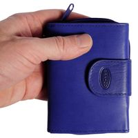 Branco - Leather Purse, Ladies Wallet, Small Wallet, Model-225 Blue