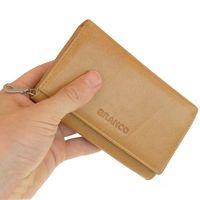 Branco - Leather Ladies Wallet, Coin Purse, Wallet Women, Model-265 Beige